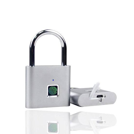 Smartes Schloss: Vorhaengeschloss, Fingerabdruck-Sensor, Bluetooth 5.0