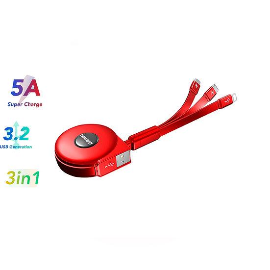 usb-kabel, 3-in-1, rolle, gadget, typ-c, lightning, micro-usb, buy, kaufen, bestellen, store, shop, online