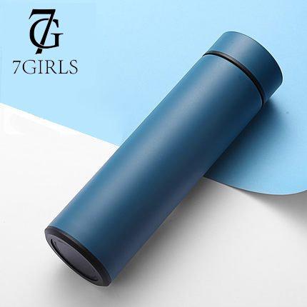 7Girls; Smarte Trinkflasche: Thermoskanne, Temperatursensor, Trinkmessung