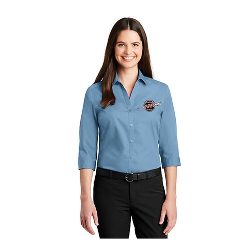 Ladies 3/4 Sleeve Poplin Shirt