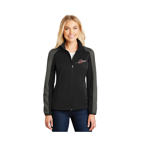 Ladies Soft Shell Jacket, Zip Front