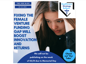 Fixing the Female Venture Funding Gap Will Boost Innovation and Returns-The HSB Blog 5/24/21