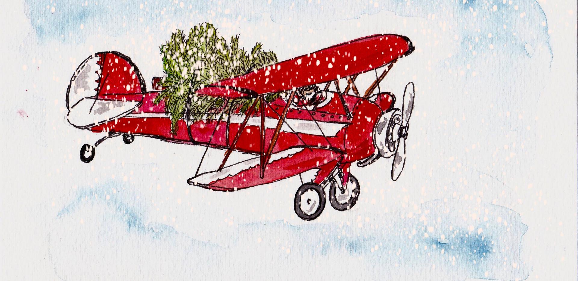 Rotes Flugzeug