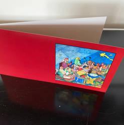 Tarjeta de Navidad de la Biblia de Wiedmann