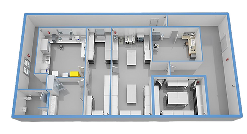 Industrial eco laboratory 3D floor plan_
