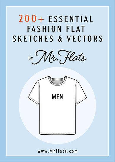 200+ Essential Fashion Flat Sketches - Men