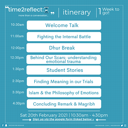 Time2Reflect Timetable