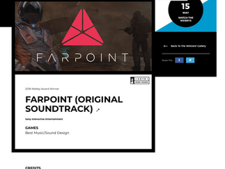 "Stephen Cox wins 2018 Webby award for score to VR Game ""Farpoint"""
