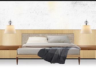 555 Laurel - master bedroom _ BED wall_e
