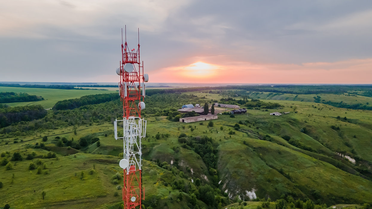 Telecommunication tower 5G, Wireless Antenna connection system of communication systems in