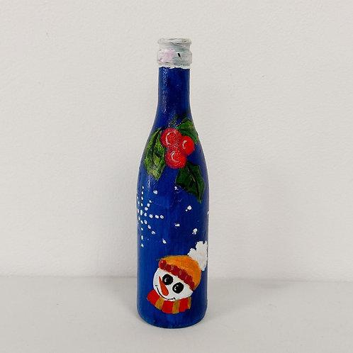 Botella Muñeco de Nieve