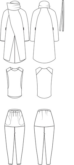 Menswear flat illustrations