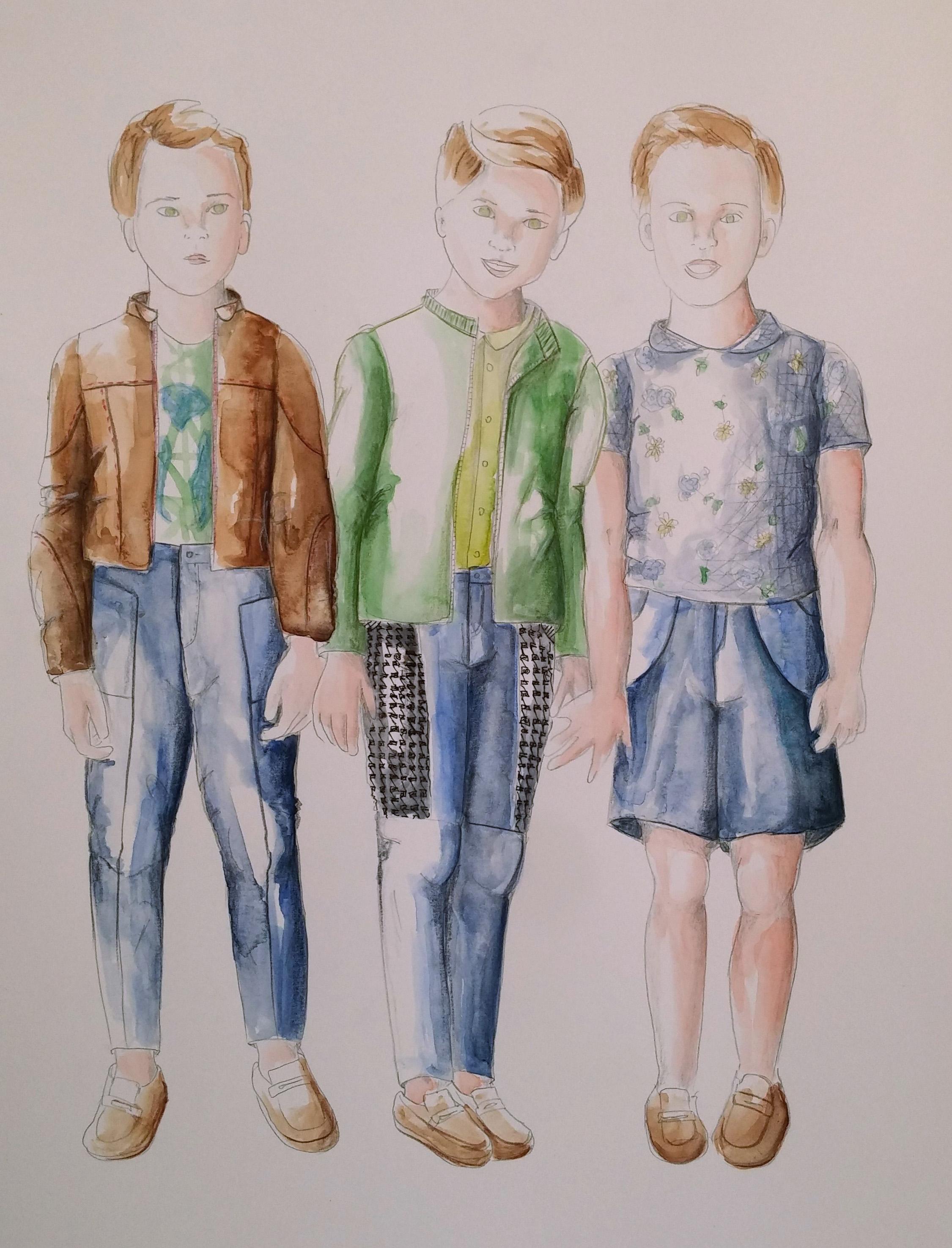 Fashion illustrations - Boys