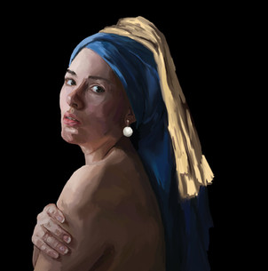 FLAT A grirl with a pearl earring - Copy