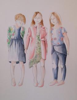 Fashion illustrations - Girls