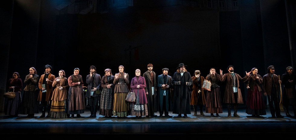 Cast of FIDDLER ON THE ROOF National Tour directed by Bartlett Sher