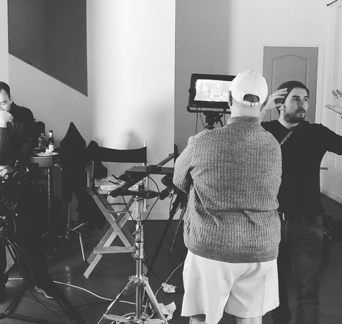 Behind scenes