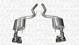 Corsa Sport 3 in. Axle-Back Exhaust w/ Polished Quad Tips
