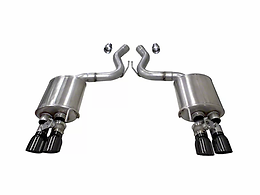 Corsa Sport 3 in. Axle-Back Exhaust w/ Black Quad Tips W/ Active Exhaust