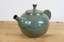 Ornate Green Teapot