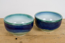 Bowl green blue white