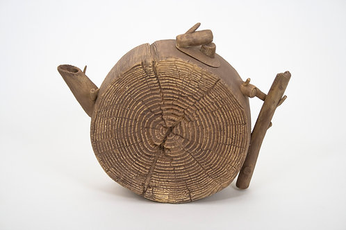 Wood Teapot #6 (non-functional)