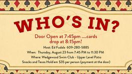 Poker Night – August 23