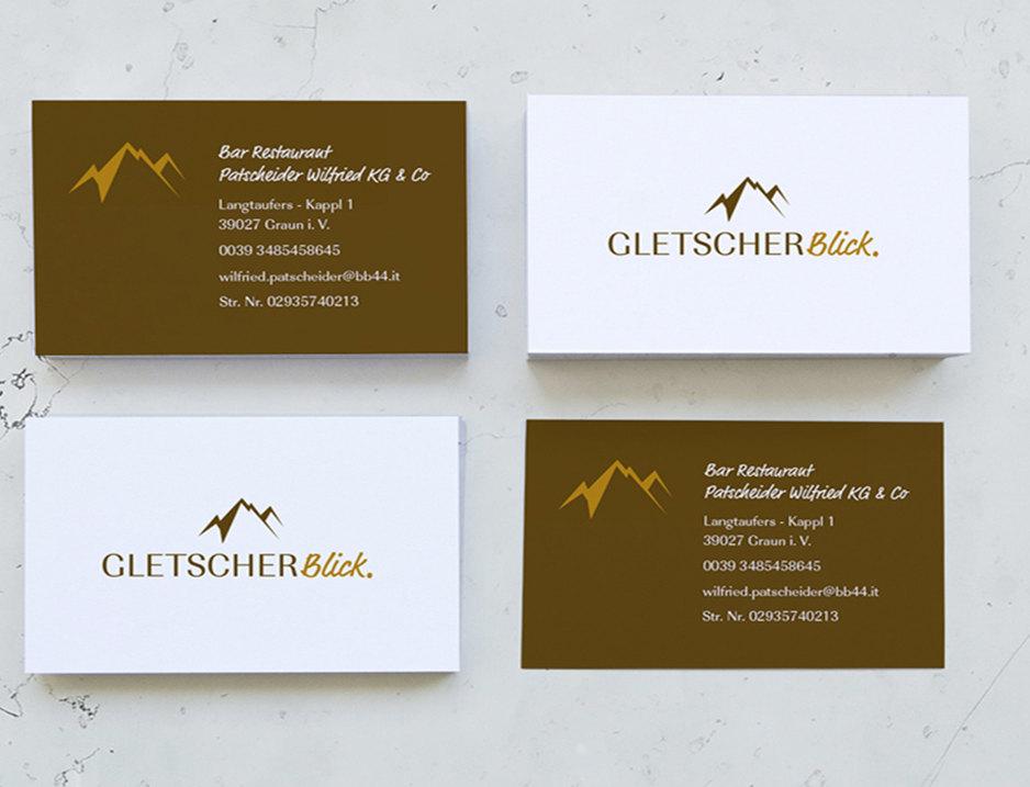 Visitenkarten - Restaurant Gletscherblic