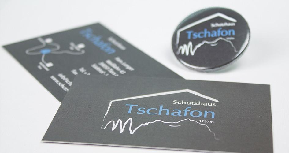 Schutzhaus Tschafon Visitenkarten