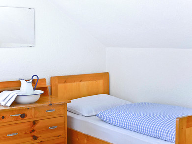 Schutzhaus Tschafon Zimmer