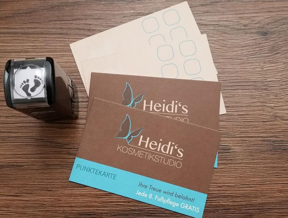 Heidi's Kosmetikstudio - Punktekarte