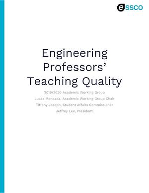 Engineering Professors' Teaching Quality