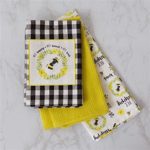 Bee Tea Towels (3Pk)