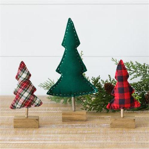 Cloth Trees - Tartan, Buffalo Plaid, Green