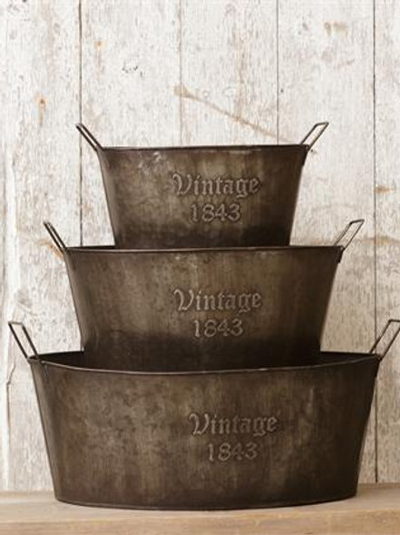Oval Tubs - Vintage 1843 (Set of 3)
