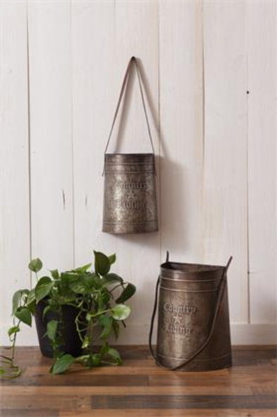 Country Living Tins with Leather Handles