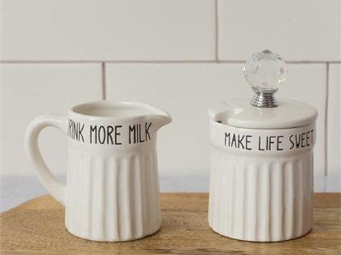Cream & Sugar Jars (Set of2)
