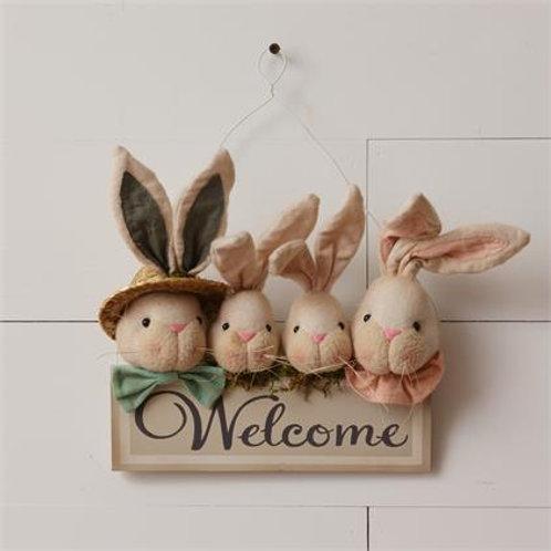 Welcome Bunnies Wall Decor