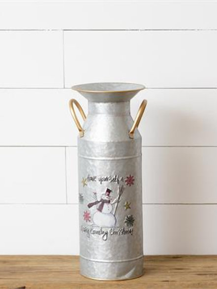 Tall Milk Can - Country Christmas