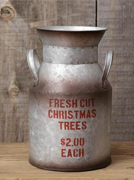 Metal Milk Pail - Fresh Cut Christmas Trees (Pk 3)
