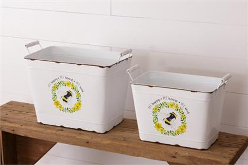 Bee Happy, Honest, Kind Containers (2Pk)