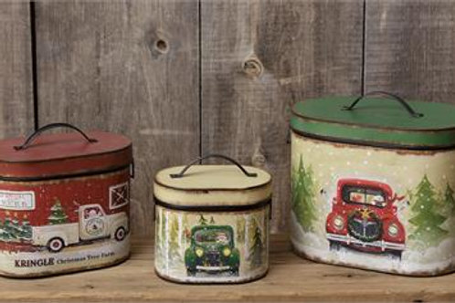 Nesting Tins - Kringle Christmas Tree Farm