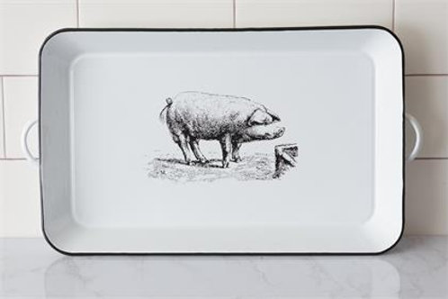 Enamel Pig Tray