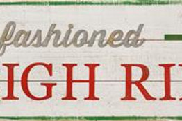 Sign - Old Fashioned Sleigh Rides
