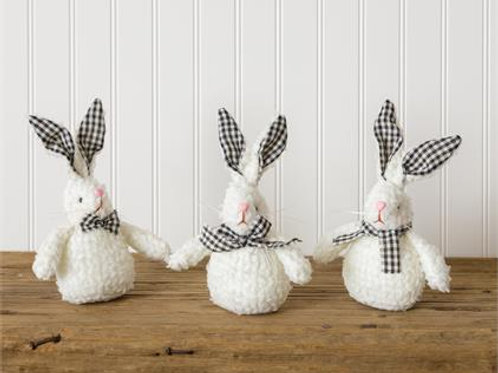 Black and White Check Bunnies (3Pk)