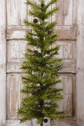 """Christmas Pine With Cones - Burlap Base 48"""""""