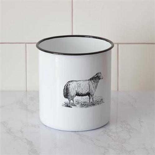 Enamel Sheep Canister