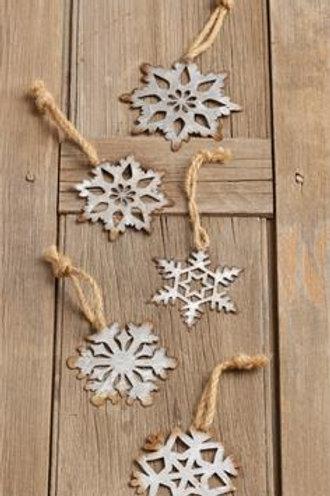 Ornaments- Metal Snowflakes