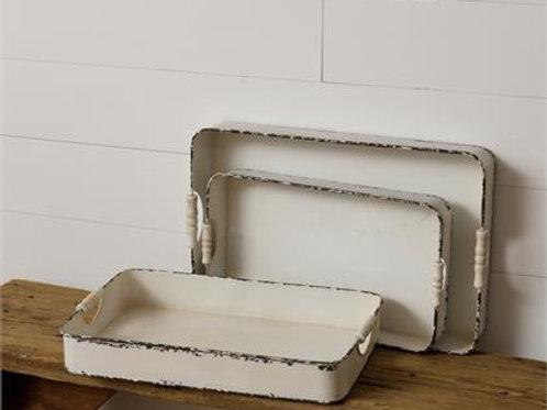 Destressed Trays (Set of 3)