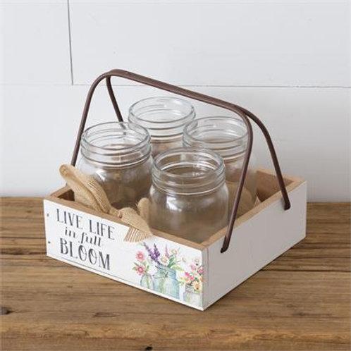 Spring Mason Jar Holder